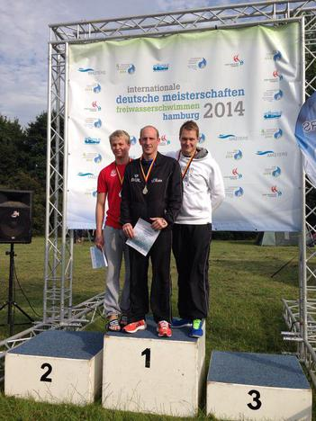 Siegerehrung Deutsche Meisterschaften Thomas Lurz